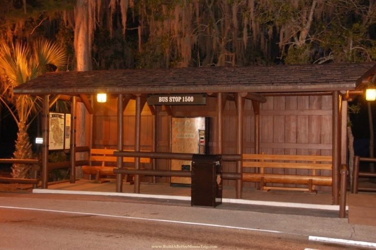 Bus stop at Disney's Fort Wilderness Resort & Campground / Walt Disney World Resort.