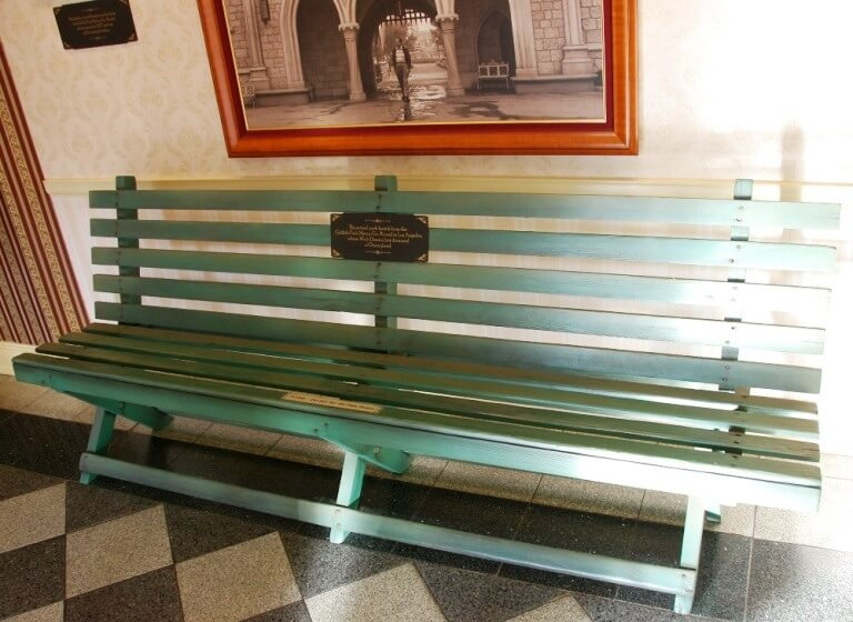 The bench where Walt Disney sat and first thought of building a place that parents and children could enjoy together.   That initial inspiration was later realized in Disneyland, the first Disney theme park.