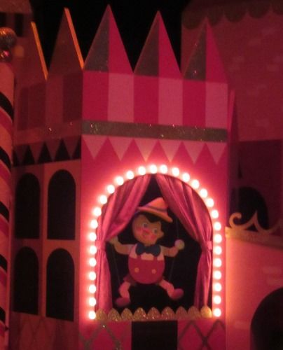 "Pinocchio in the ""it's a small world"" attraction at Disneyland"