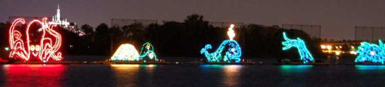 Everything You Need To Know About the Electric Water Pageant at Disney World.  (Nightly floating parade - totally free activity).  See:http://www.buildabettermousetrip.com/electric-water-pageant