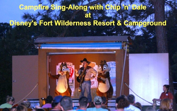 Everything You need to know about the Campfire Sing-Along with Chip 'n' Dale at Disney's Fort Wilderness Resort and Campground - information, directions and photos.