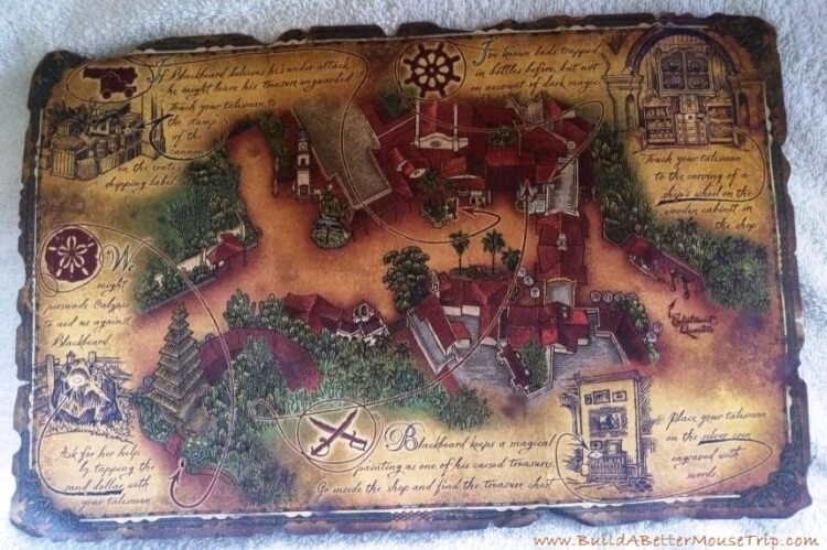 Finding Pirates at Disney World - Pirate's Map from A Pirate's Adventure in Magic Kigndom's Adventureland