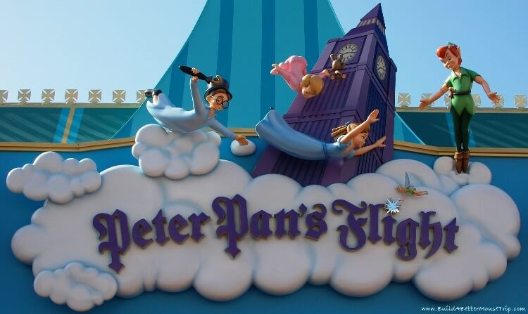 Finding Pirates at Disney World - Peter Pan's Flight in Fantasyland in the Magic Kingdom at Disney World