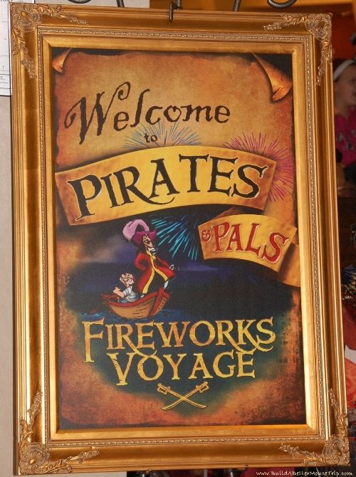 Finding Pirates at Disney World - Pirate & Pals Fireworks Voyage at Disney's Contemporary Resort  '