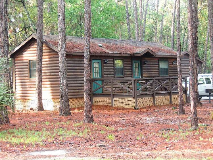 Exterior view of a cabin at Disney's Fort Wilderness Resort and Campground at Disney World