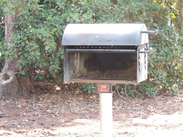 Charcoal grill at Disney's Fort Wilderness Resort and Campground