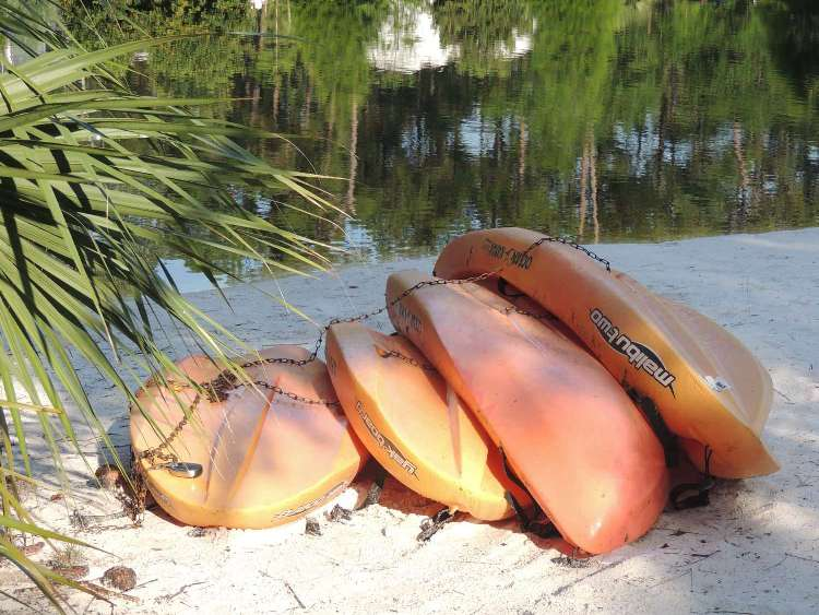 Kayak rentals available at the Fort Wilderness campground