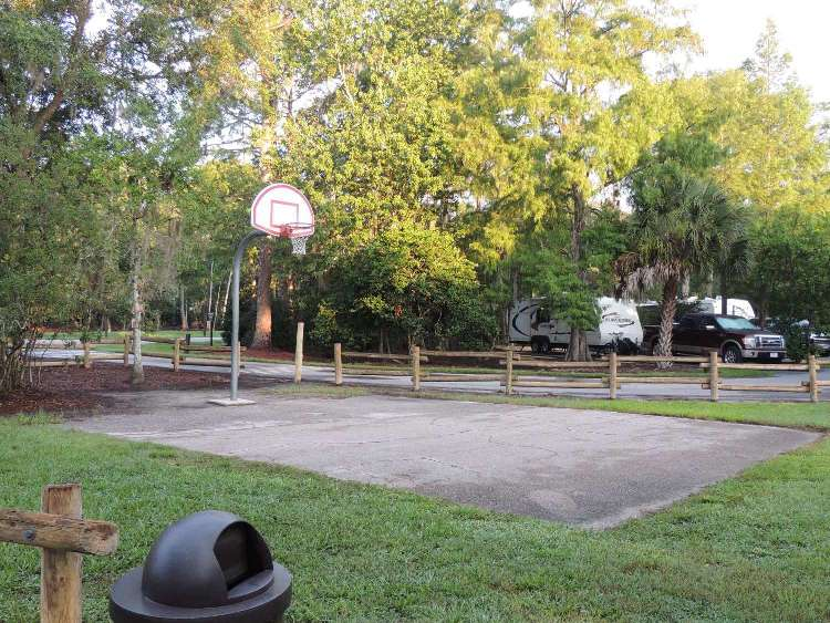 Shoots some hoops at Disney's Fort Wilderness Resort & Campground