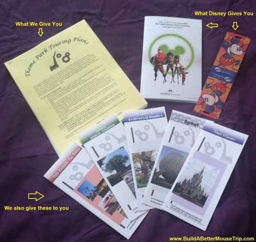 Free Theme Park Touring Plans and Tips Brochures from BuildABetterMouseTrip.com