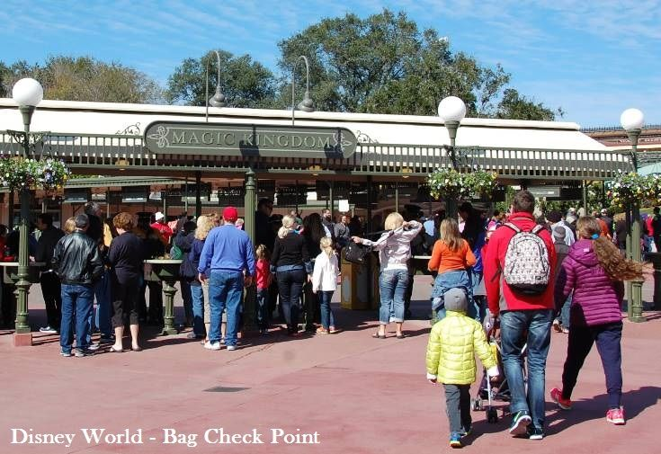 Disney Theme Park Security Point - Bag Check.