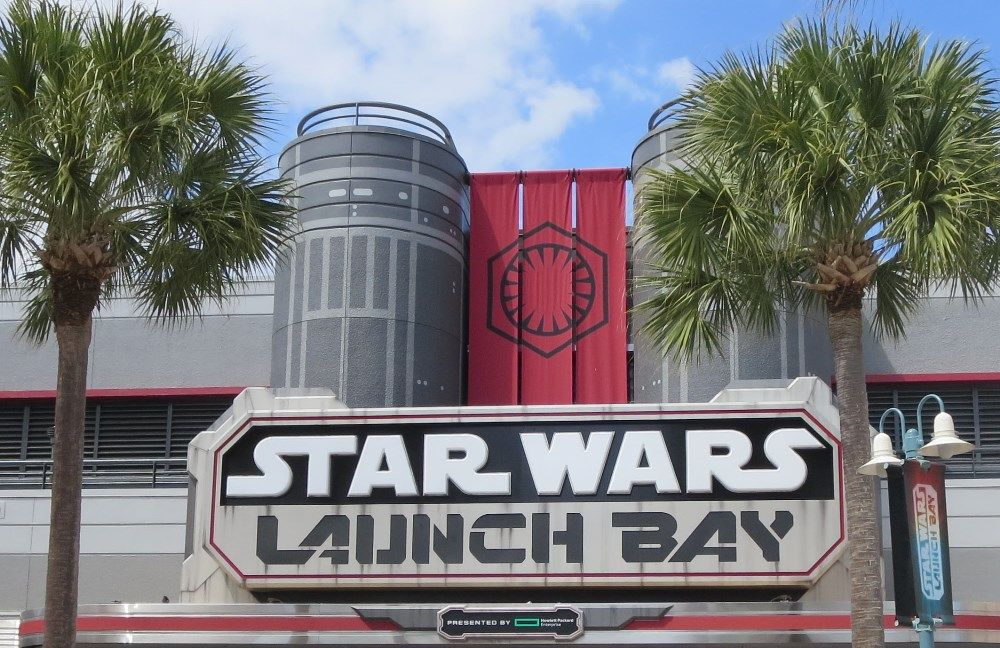 Star WArs Launch Bay at Disney's HOllywood Studios / Walt Disney World Resort - Florida.   Star Wars Launch Bay is full of Star wars movie memorabilia and replicas and the place to meet Kylo Ren and Chewbaca.
