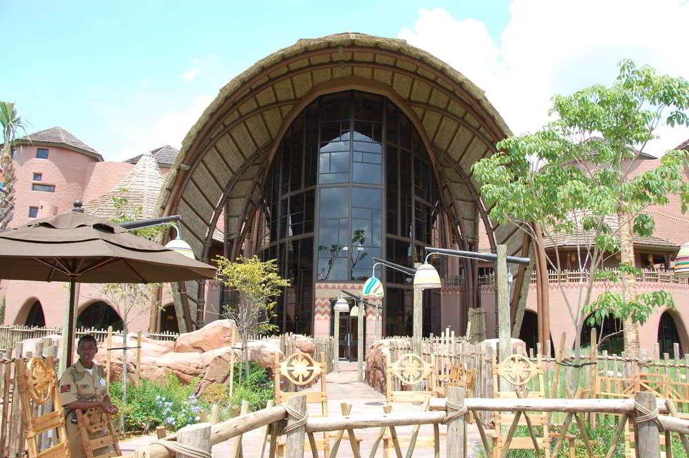 Disney's Animal Kingdom Lodge - Kidani Village lobby and savanna - a beautiful Disney World Deluxe resort.