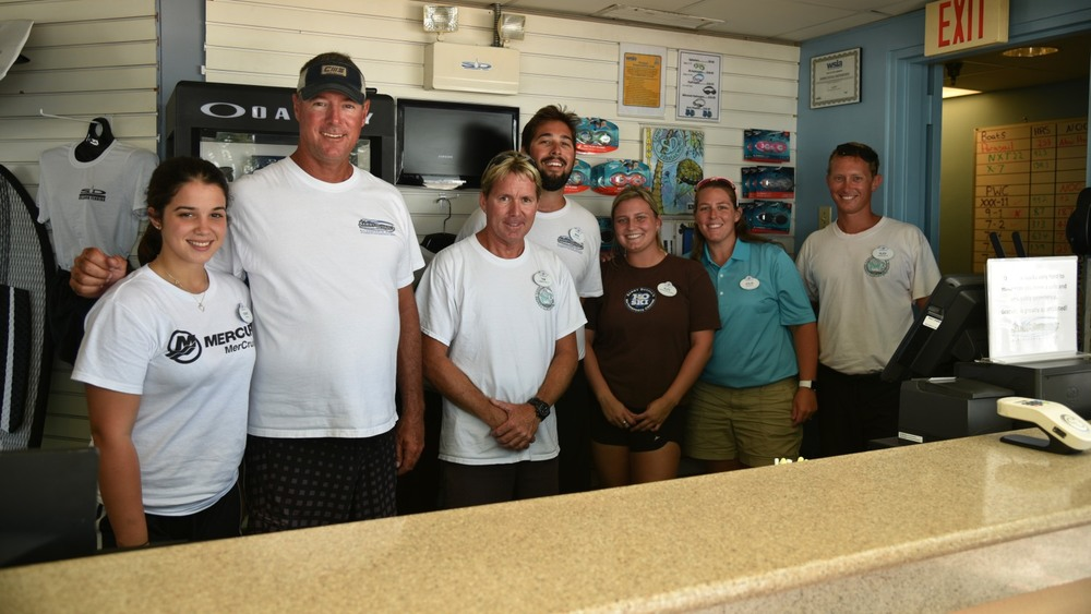 The great staff at Sammy Duvall Watersports Centre located at Disney's Contemporary Resort at Disney World.