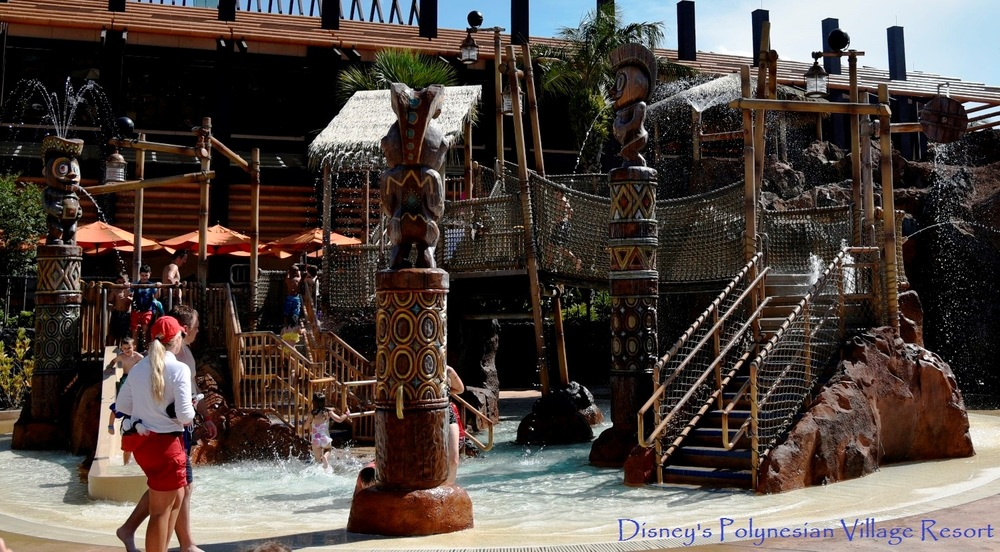 Kids splash and climbing zone at Disney's Polynesian Village Resort at Disney World in Florida.