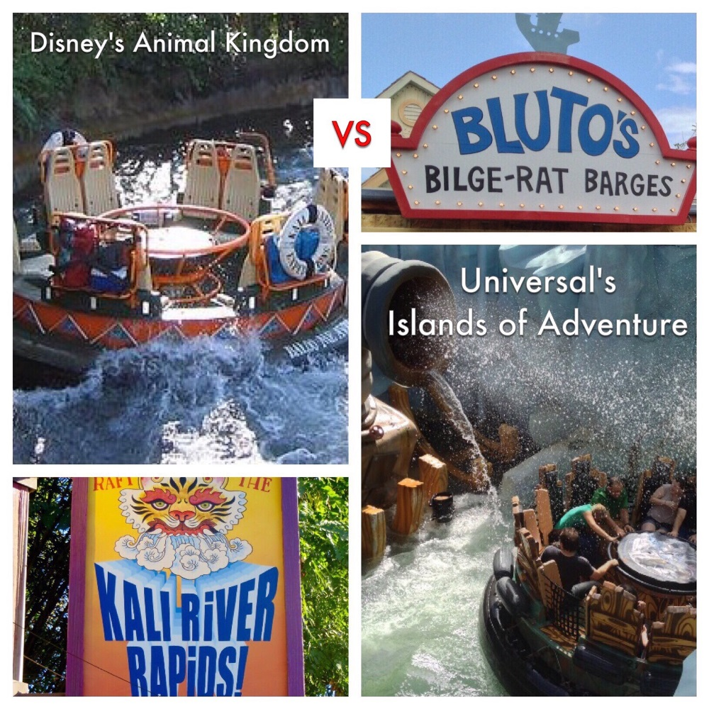 Battle of the Disney World & Universal Orlando attractions: Kali River Rapids (Disney's Animal Kingdom) vs. Popeye & Bluto's Bilge-Rat Barges (Universal's Islands of Adventure) ....which is better?  We compare & contrast several aspects of both rides to see which delivers more fun.