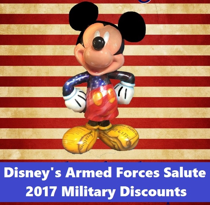 2017 Disney's Armed Forces Salute Military Discounts have been released and are ready to book today.