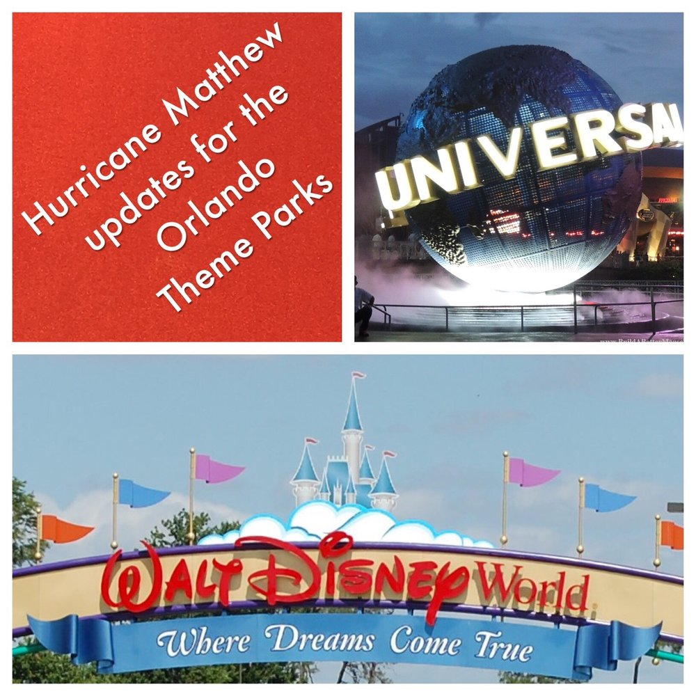 A list of Hurricane Matthew closures and alerts for the Orlando theme parks, including the Walt Disney World Resort, Universal Orlando, SeaWorld Legoland, Disney Cruise Line, and Kennedy Space Center Visitor complex.  Hurricane Matthew closure announcements for Magic Kingdom, Epcot, Animal Kingdom, Disney's Hollywood Studios, Universal Studios Florida, Islands of Adventure, and more.