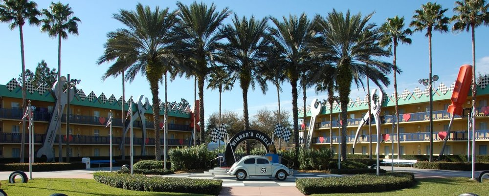 Herbie the Love Bug section  at Disney's All-Star Movies Resort