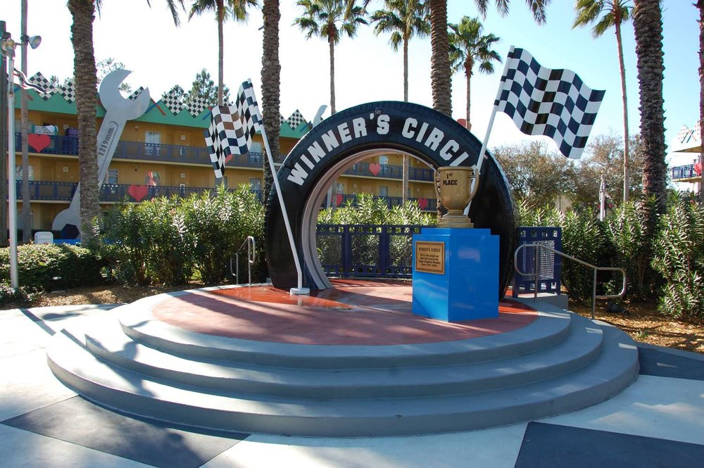 Winners Circle photo spot  at Disney's All-Star Movies Resort