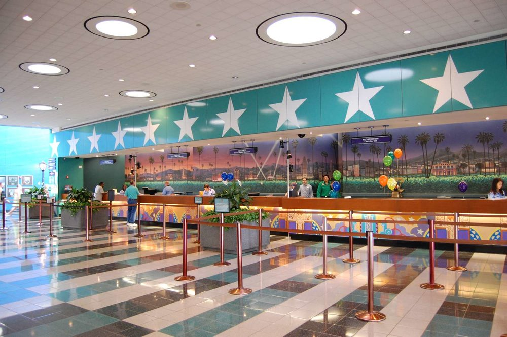 Check-in desk at Disney's All-Star Movies Resort