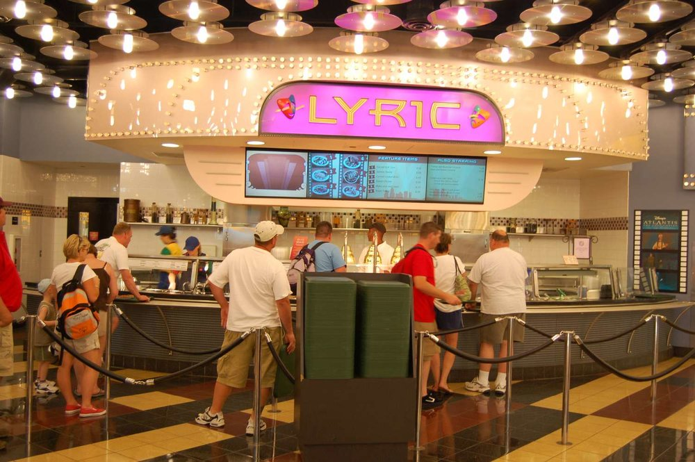 Lyric  food station at Disney's All-Star Movies Resort