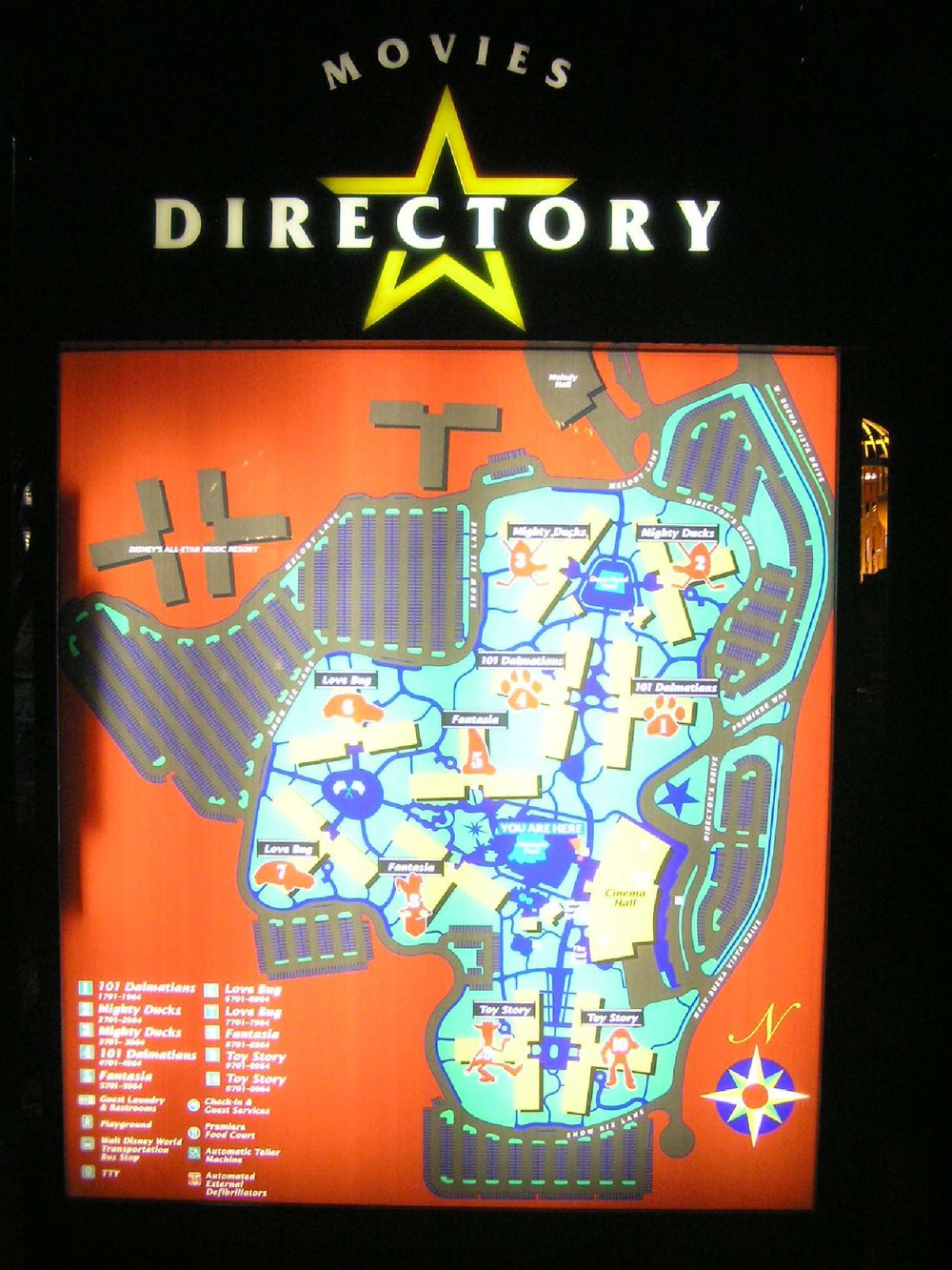 Map of Disney's All-Star Movies Resort at Disney World