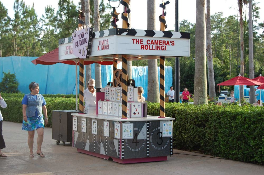 Temporary tattoo kiosk at Disney's All-Star Movies Resort