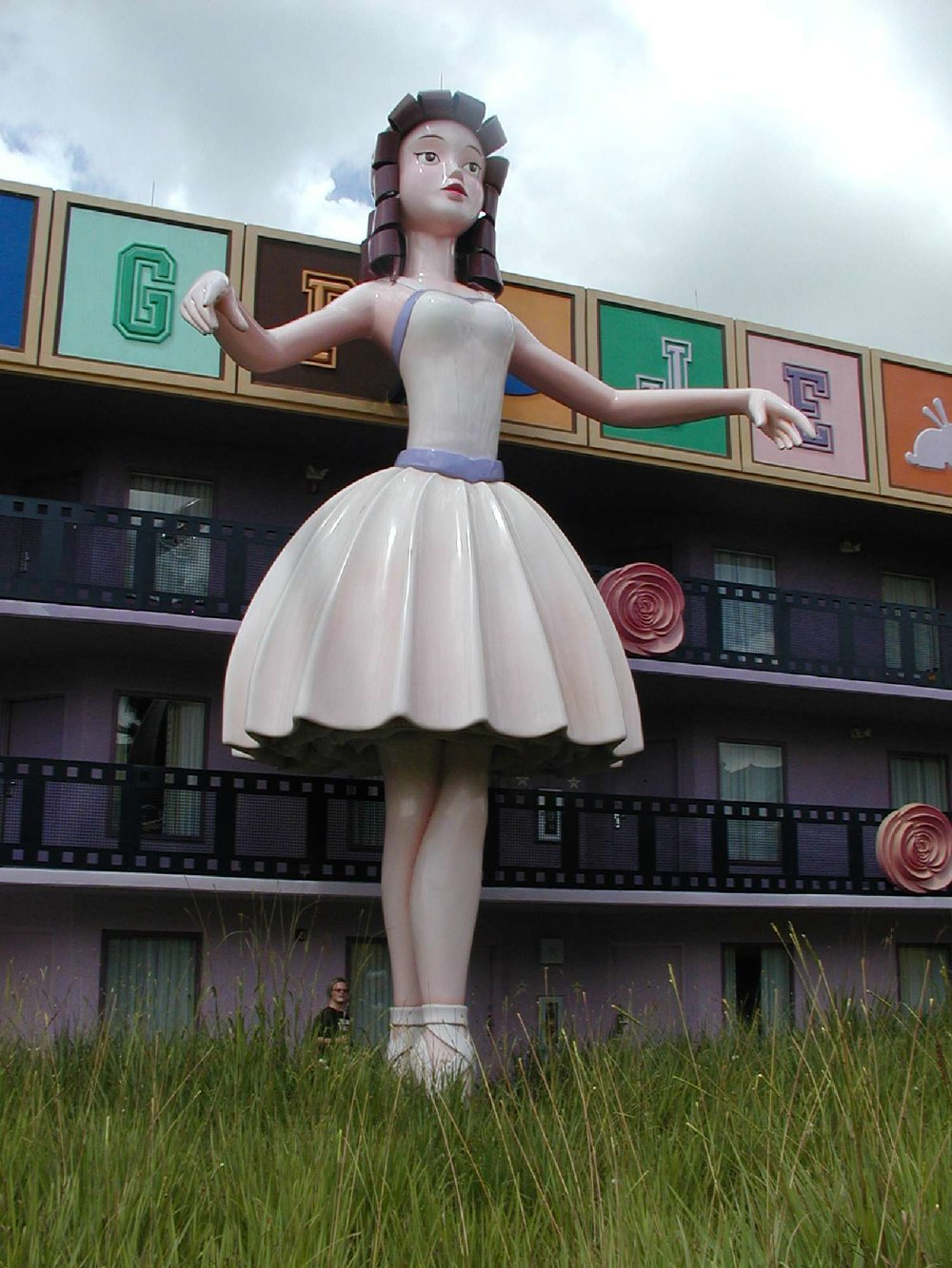 Ballerina on a Fantasia building at Disney's All-Star Movies Resort