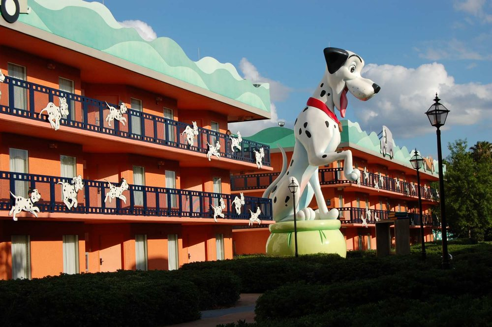 101 Dalmatians buildings at Disney's All-Star Movies Resort