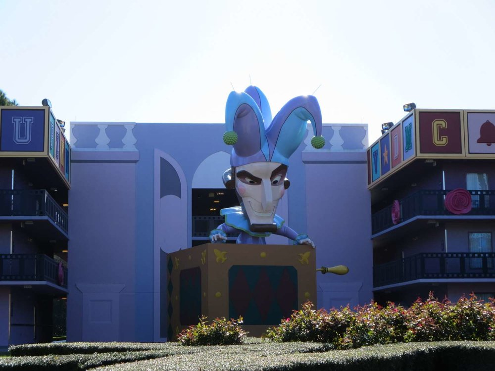 Jack-in-the-Box in the Fantasia area of Disney's All-Star Music Resort