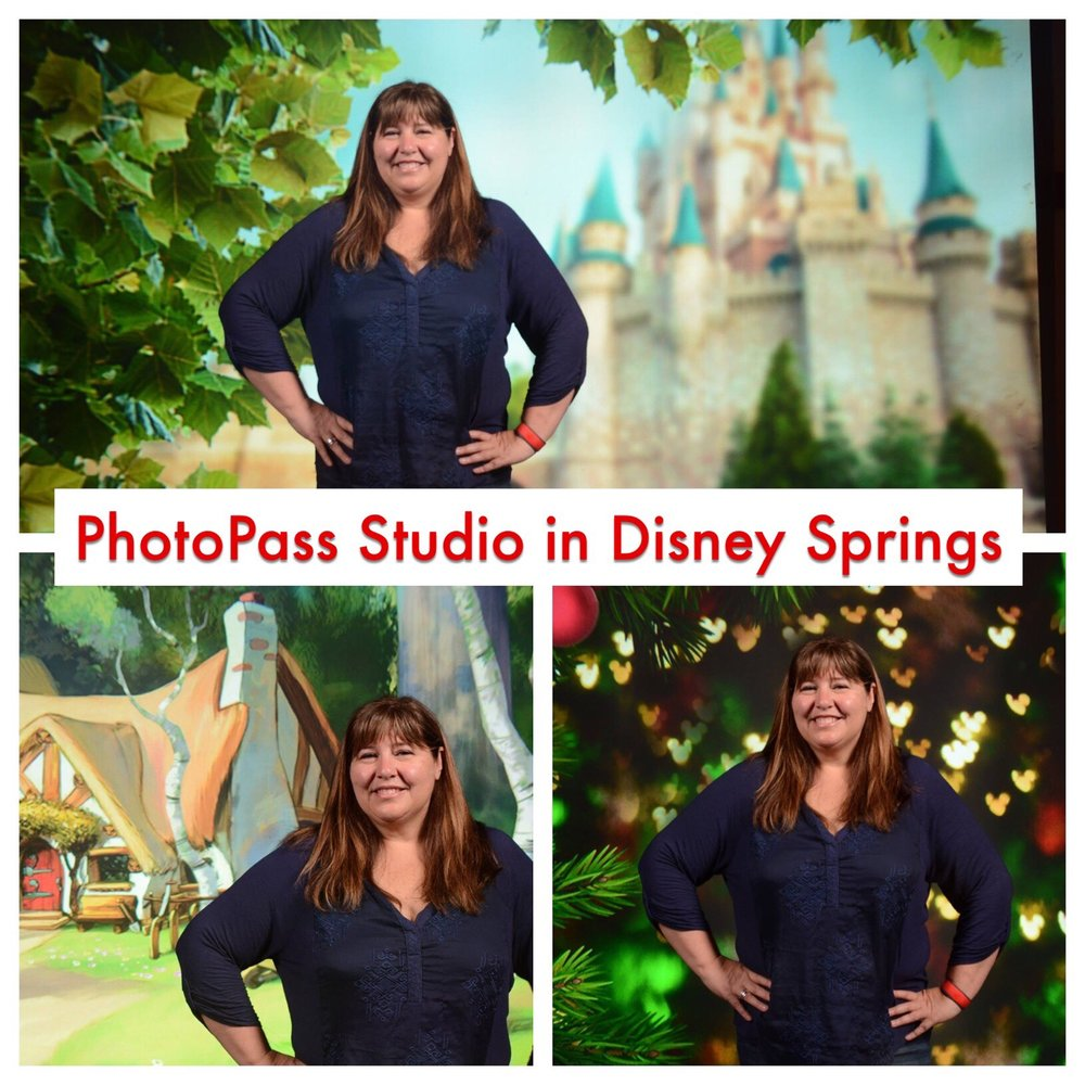 Choose from several great backgrounds at the PhotoPass Studio in Disney Springs / Walt Disney World Resort - Florida.
