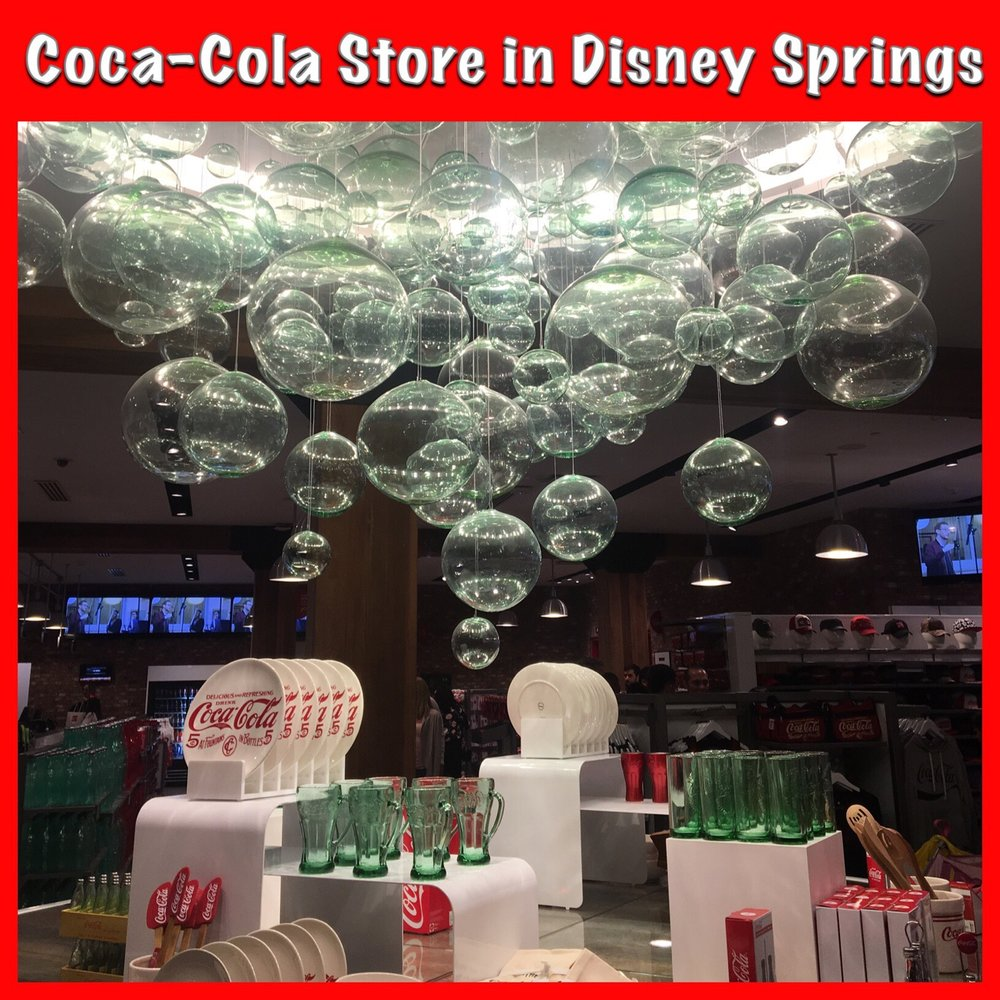 Coca-Cola Store located near the Planet Hollywood Observatory in Disney Springs / Walt Disney World Resort - Florida.