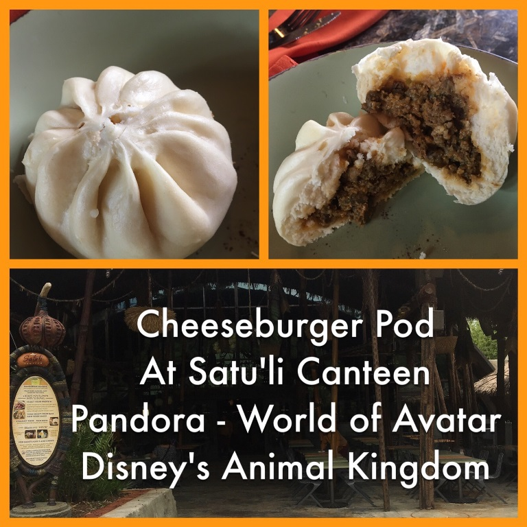 Cheeseburger pod at Satu'li Canteen in Pandora - The World of Avatar at Disney's Animal Kingdom Park / Walt Disney World Resort.