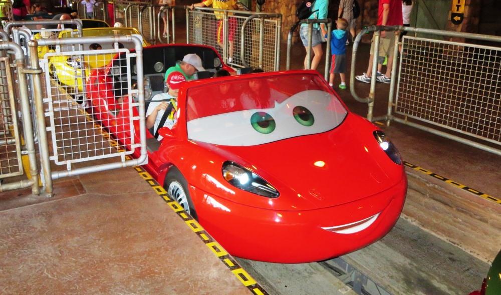 Lightning McQueen at Radiator Springs Racers