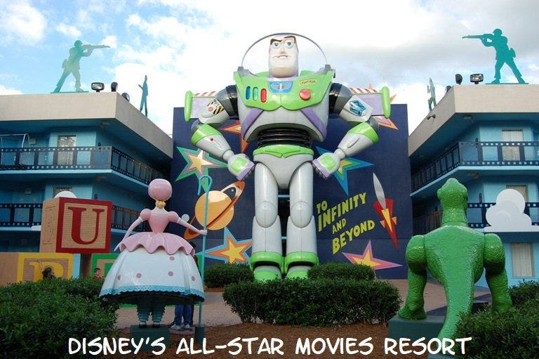 Buzz Lightyear building at Disney's All-Star Movies Hotel - Walt Disney World Resort - Florida.