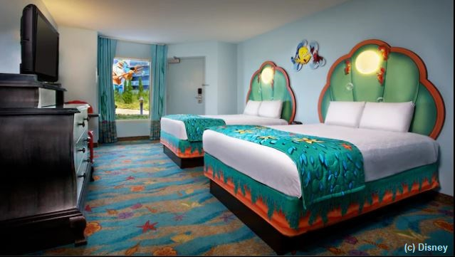 Little Mermaid Standard Room at Disney's Art of Animation Resort / / Walt Disney World