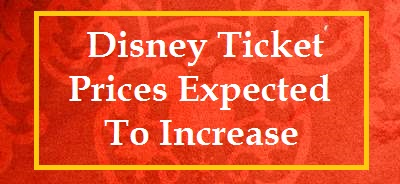 Disney World tickets will be subject to seasonal pricing as of October 16, 2018.