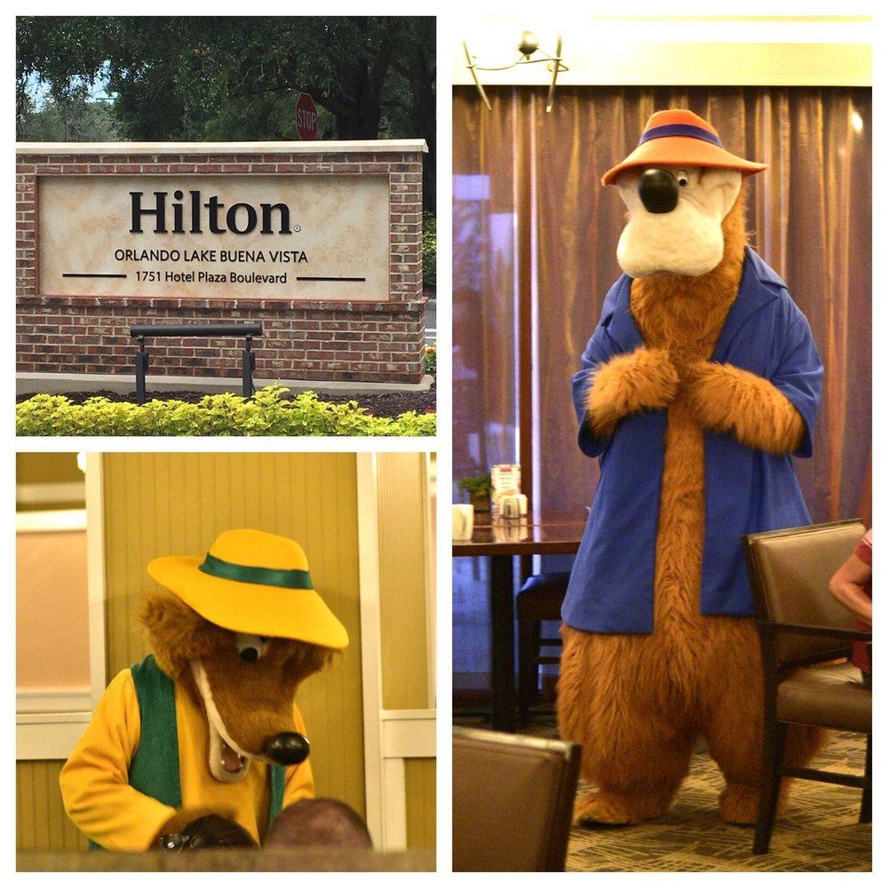 Sunday character breakfast presented at Hilton Orlando Lake Buena Vista hotel / Disney Springs Resort Area - Disney World.