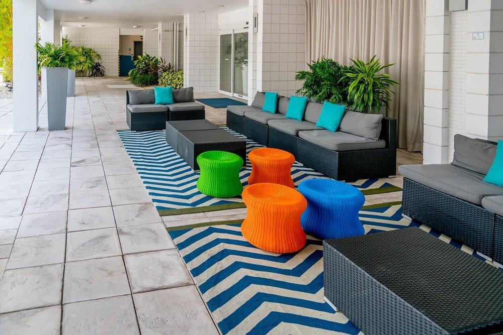 Outdoor seating at B Resort and Spa - Disney Springs
