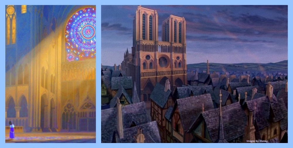 Disney and Notre Dame Cathedral