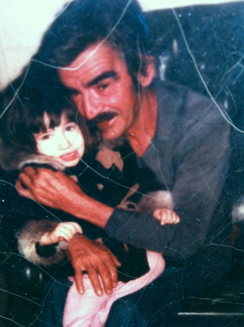 Clifford Hartwick with Granddaughter 1978