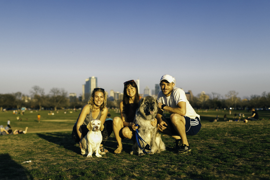 Left to right: Aubrey, Michele, Alex (Sid & Zeva)