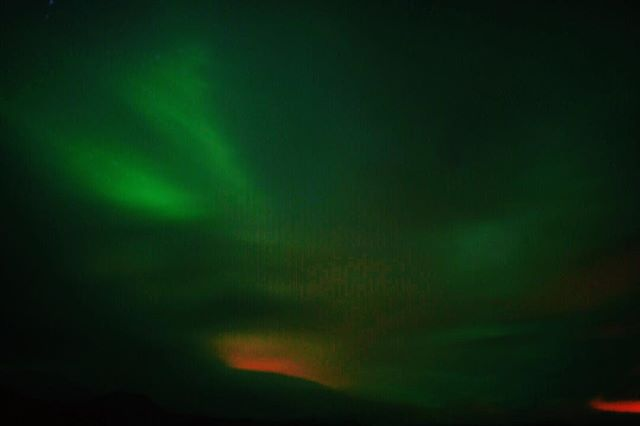 Landed in Iceland after the sun had set. Can't wait to explore... #aurora #iceland