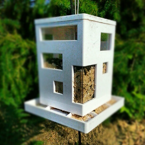 BAUHAUS BIRDHOUSE #bauhaus #birdhouse  (Taken with  Instagram )