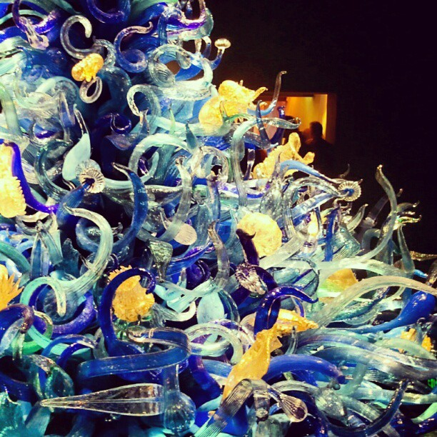 You can buy a postcard with my photograph of this sealife tower in the giftshop #chihuly #seattle #glass (Taken with  Instagram  at Chihuly Garden and Glass)