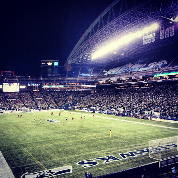 First leg of the semifinals. Go Sounders! #sounders #soccer #soccer #football #centurylink (at CenturyLink Field)
