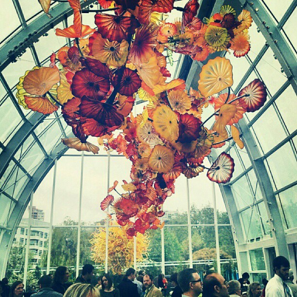 This piece is one of a kind amd inspired by Flower Conservatory at Volunteer Park. #glassart #seattle #chihulygarden #flowe (Taken with Instagram at Chihuly Garden and Glass)