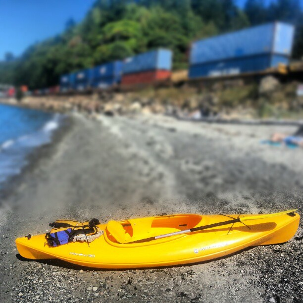 Ballard locks to Carkeek Park paddle with Club Tabor. (Taken with Instagram at Carkeek Park Beach)