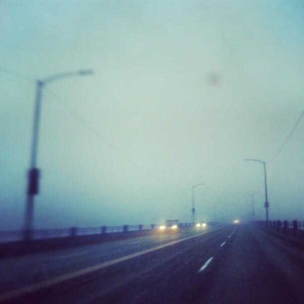 Fresh and Foggy morning in Seattle. Can't see across the Ballard Bridge.   #seattle #fresh&foggy #seattlefog #seattleweather #fog  (at magnolia bridge)