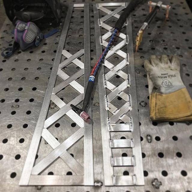#sundayfunday w/ @miller_welders. What am I making? It's a secret.  #tigwelding #aluminumwelding #aluminum